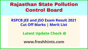 Rajasthan Junior Environmental Engineer Selection List 2021