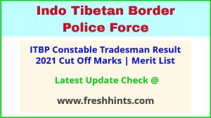 ITBP Tradesman Selection List 2021