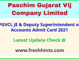 PGVCL Deputy Superintendent of Accounts Call Letter 2021