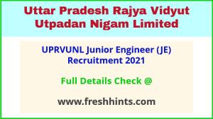 UPRVUNL Junior Engineer Vacancy 2021