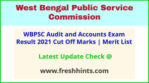 West Bengal Audit and Accounts Service Selection List 2021