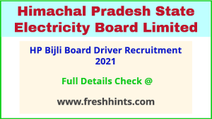 HP Bijli Board Driver Recruitment 2021