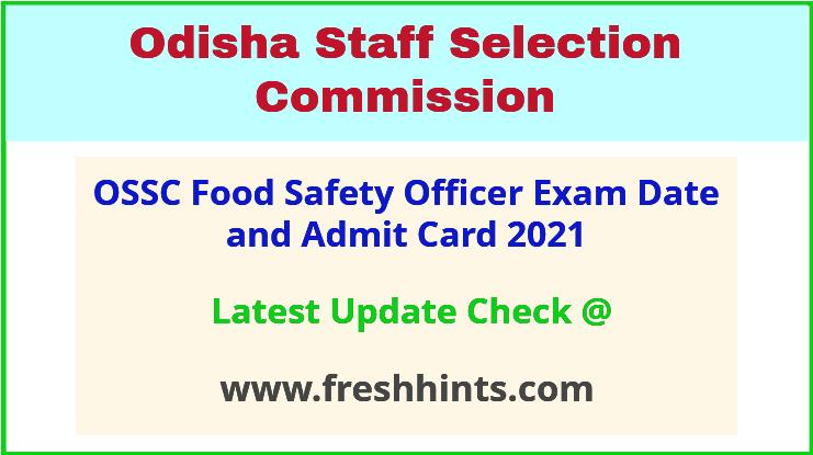Odisha FSO Exam Admit Card 2021
