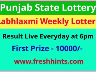 Punjab Labhlaxmi Lottery Winner List 2021