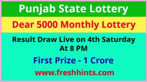 Punjab Lottery Dear 5000 Monthly Winner List 2021