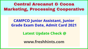 CAMPCO Exam Hall Ticket 2021 Download