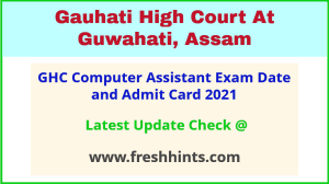 GHC Computer Assistant Hall Ticket 2021