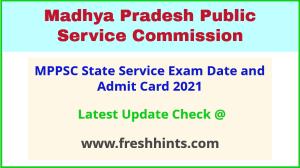 MP State Service Exam Hall Ticket 2021