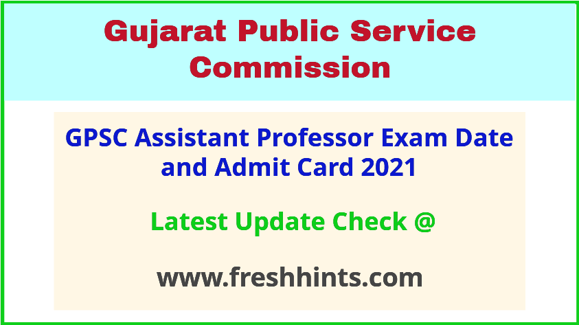 Gujarat Medical College Assistant Professor Call Letter 2021