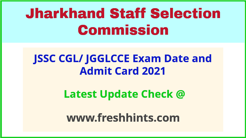 Jharkhand JGGLCCE Exam Hall Ticket 2021