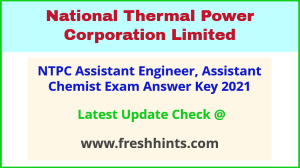 NTPC Assistant Engineer Answer Sheet 2021