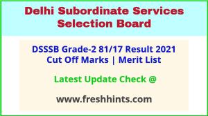 Delhi DASS Selection List 2021