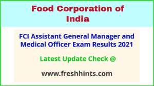 FCI Assistant General Manager Selection List 2021