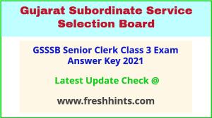 Gujarat Sachivalaya Sr Clerk Answer Sheet 2021