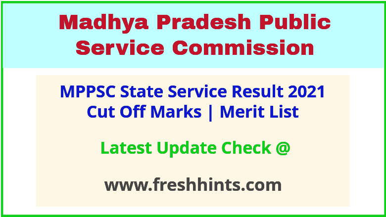 MP State Service Selection List 2021