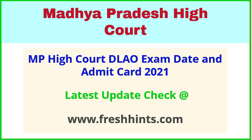 MPHC District Legal Aid Officer Exam Hall Ticket 2021