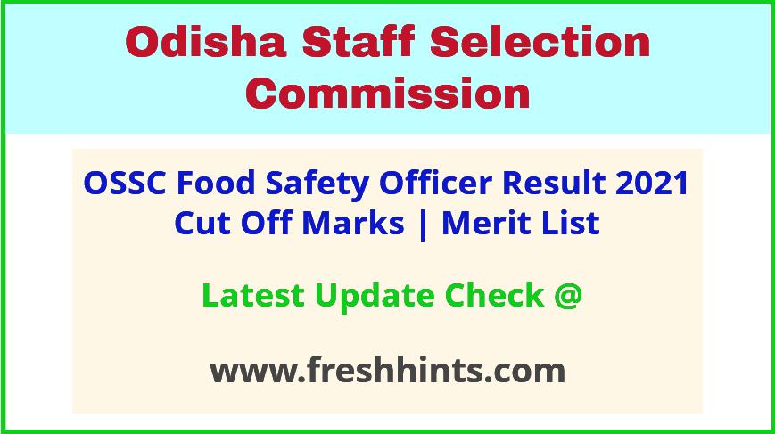 Odisha FSO Selection List 2021