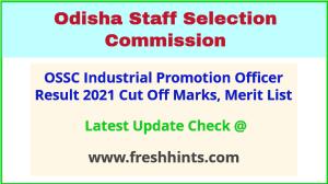 Odisha Industrial Promotion Officer Selection List 2021