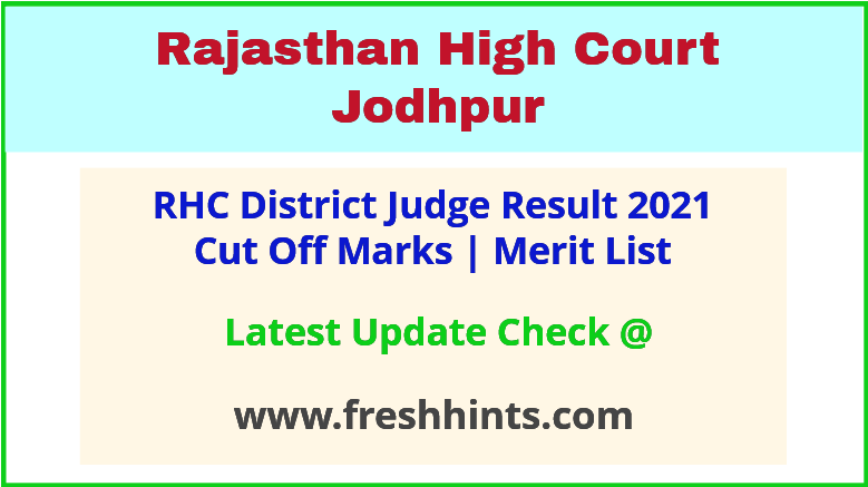 RHC District Judge Selection List 2021