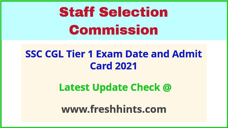 SSC Combined Graduate Level Exam Hall Ticket 2021