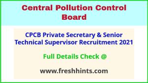 CPCB private secretary recruitment 2021