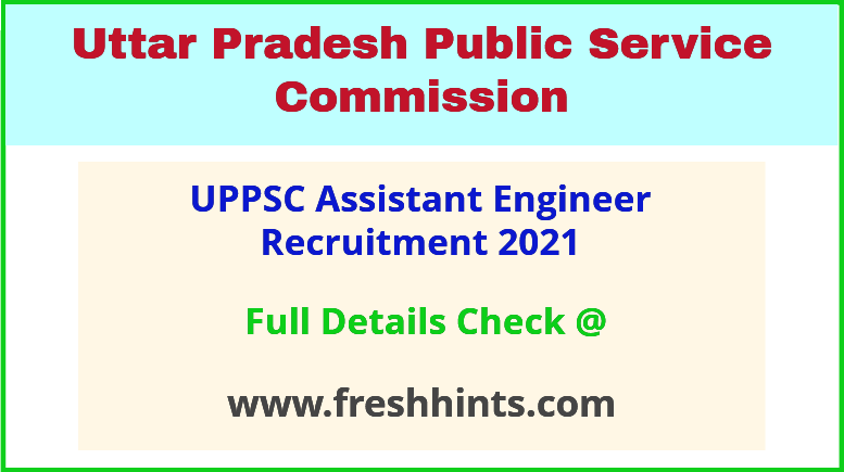 UP CSES assistant engineer recruitment 2021