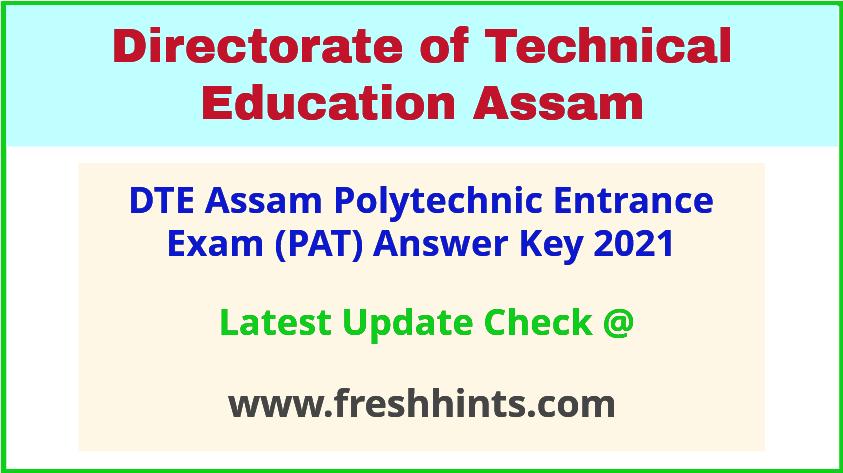 Assam Polytechnic Entrance Exam Answer Key Pdf 2021