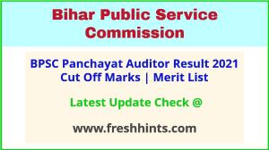 Bihar Panchayat Auditor Selection List 2021