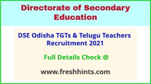 bse odisha TGTs & telugu teacher recruitment 2021