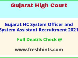 gujarat hc system assistant recruitment 2021