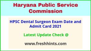 Haryana Dental Surgeon Exam Hall Ticket 2021
