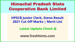 HP State Cooperative Bank Jr Clerk Selection List 2021