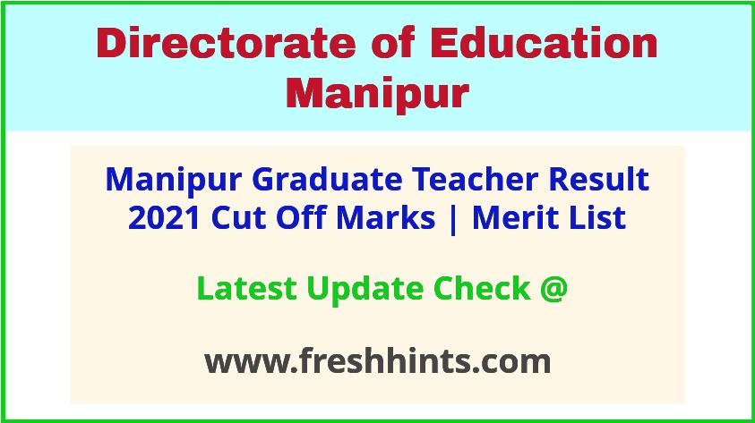 Manipur Graduate Teacher Selection List 2021