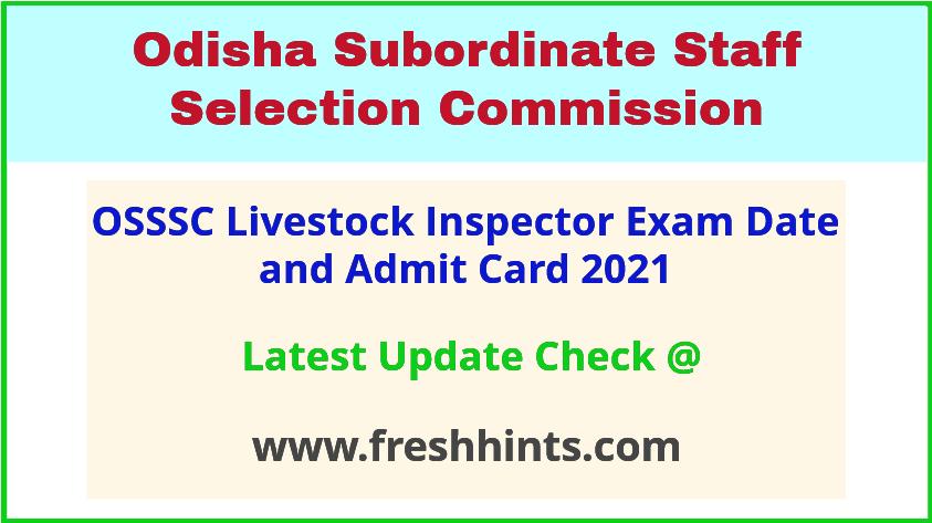 Odisha LSI Exam Hall Ticket 2021