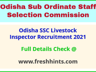 odisha ssc live stock inspector recruitment 2021