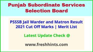 PSSSB Jail Warder Selection List 2021