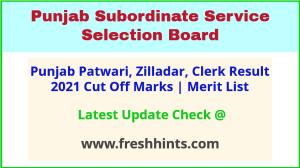 PSSSB Revenue Patwari Selection List 2021