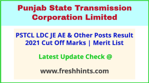 PSTCL Junior Engineer Assistant Engineer Selection List 2021