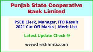 Punjab Cooperative Bank Clerk Selection List 2021