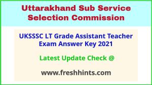 Uttarakhand Assistant Teacher Exam Answer Sheet 2021