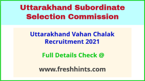 uttarakhand vahan chalak group c recruitment 2021