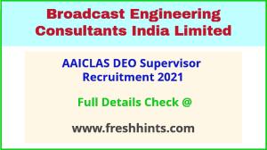 AAICLAS Supervisor Recruitment 2021
