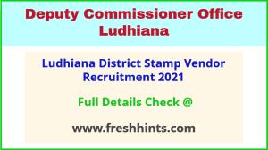 Ludhiana District recruitment 2021