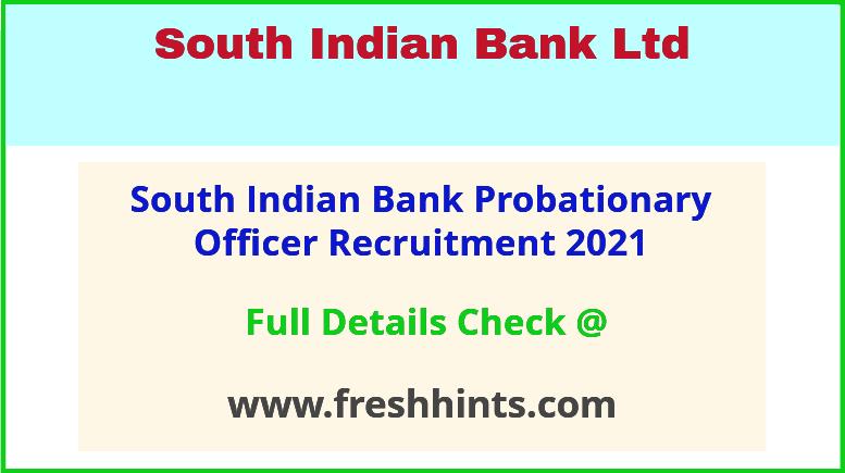 SIB Probationary Officer recruitment 2021