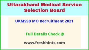 UKMSSB mo recruitment 2021