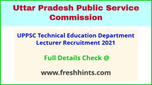 UP technical education department recruitment 2021
