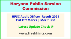 Haryana Audit Officer Cooperative Societies Selection List 2021