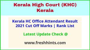HC Kerala OA Rank List 2021