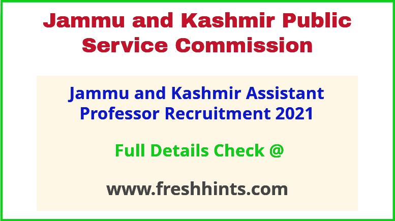 jammu and kashmir AP recruitment 2021