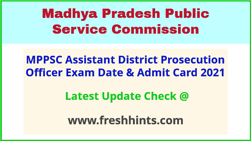 MP Assistant District Prosecution Officer Hall Ticket 2021